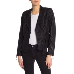 NWT BLANKNYC Faux Leather Vegan Moto Jacket Large